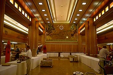 First Class Dining Room on Queen Mary, 1996