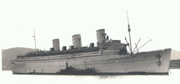Queen Mary as a WWII Troopship